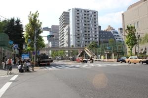 築地駅地上の街路