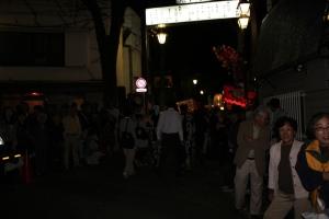 けやき並木入口(2010年10月18日撮影)