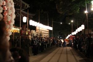 鬼子母神から法明寺への道(2010年10月18日撮影)
