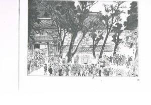 「堀の内祖師堂の図」(「東京近郊名所図会」)
