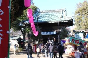 妙法寺仁王門(2011年1月2日撮影)