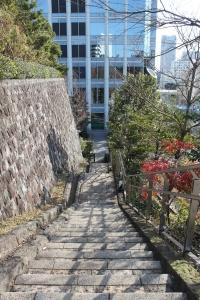 愛宕グリーンヒルズ内の歩行者通路(2011年1月4日撮影)