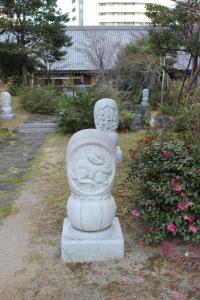 兎の彫刻(2011年1月4日撮影)
