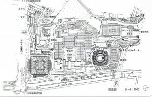 愛宕グリーンヒルズ配置図(『都市計画』51-2)