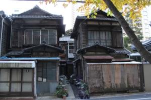 天徳寺周辺の木造住宅(2011年1月4日撮影)