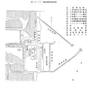 福島第一原発配置図(1970年 『原子力発電所と地域社会』より)