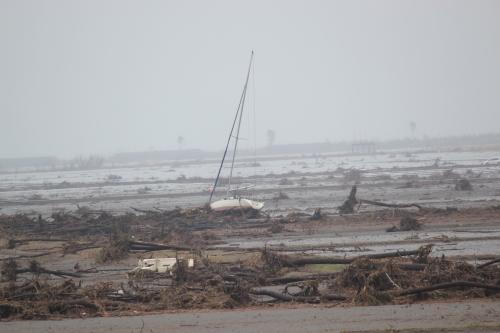 相馬市松川浦の津波被害地