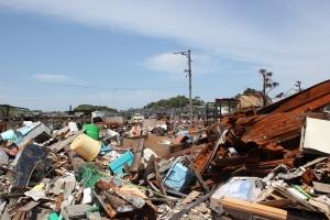 いわき市久之浜地区の瓦礫