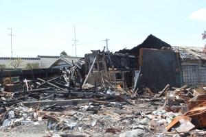 いわき市久之浜地区の焼失跡地