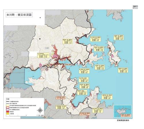 女川町被災状況図