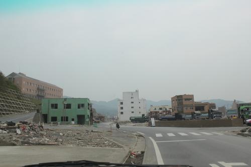 女川町市街地中心部