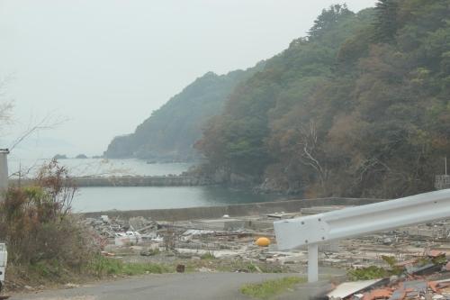 津波で被災した高白浜