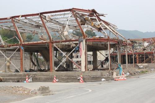 津波に被災した鉄骨造家屋