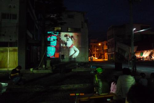 無料野外映画上映会(2011年7月23日)