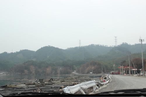 津波で被災した野々浜漁港