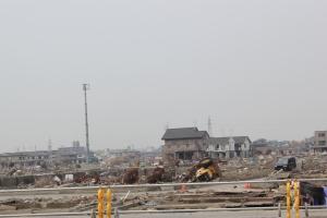 石巻市海岸部の市街地(2011年6月5日)