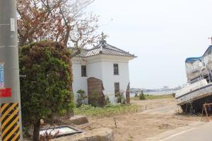 中州に移築された旧石巻ハリストス正教会教会堂(2011年7月26日)