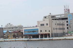 旧北上川河畔(2011年7月26日)