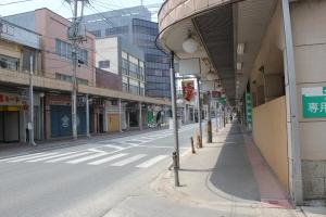 石巻市立町大通り商店街(2011年7月26日)