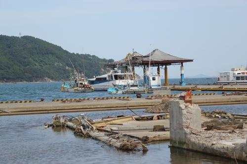 女川港桟橋(2011年7月26日)