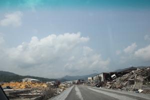 気仙沼市の津波被災地(2011年7月27日)