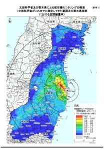 宮城県ー栃木県の空間放射線量率