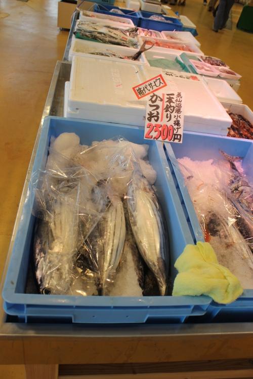 お魚いちばで販売されていたかつお(2011年7月27日)