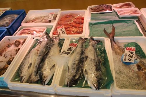お魚いちばで販売されていた銀鮭(2011年7月27日)