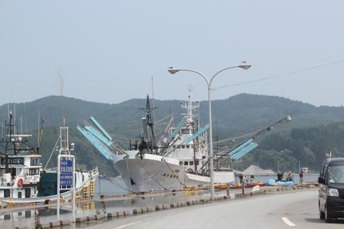 気仙沼市港町の埠頭(2011年7月27日)