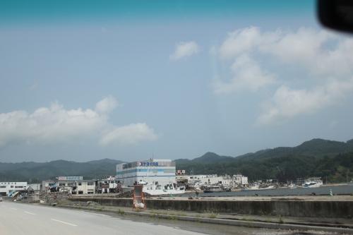 気仙沼港北部(2011年7月27日)