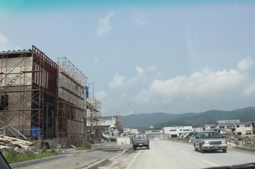 気仙沼市市街地北部の津波被災地①(2011年7月27日)