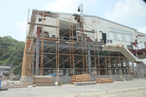 気仙沼市市街地北部の津波被災地②(2011年7月27日)