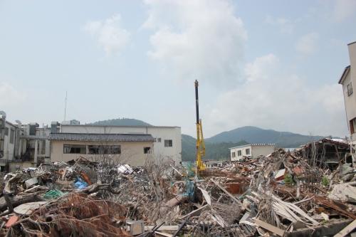 気仙沼市市街地北部の津波被災地⑤(2011年7月27日)