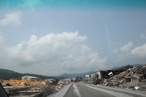 気仙沼市市街地北部の津波被災地⑦(2011年7月27日)
