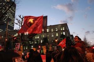 経産省前テント撤去命令緊急抗議集会(2012年1月27日)