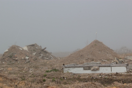 津波で壊滅した集落跡(2012年4月25日撮影)