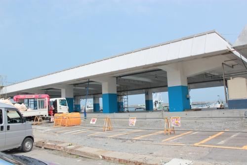 相馬原釜地方卸売市場(2012年4月25日撮影)