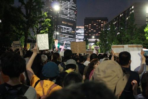 首相官邸前抗議行動(2012年6月22日)