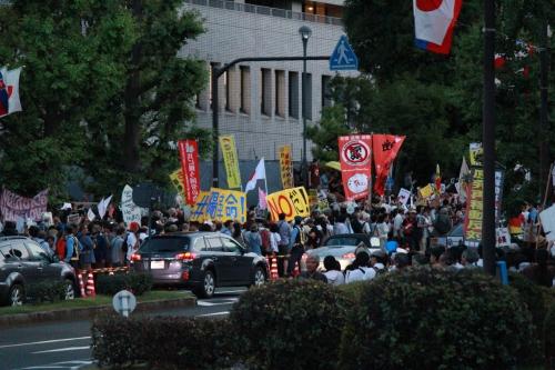 首相官邸前抗議行動・うずめつくされた車道(2012年6月29日)