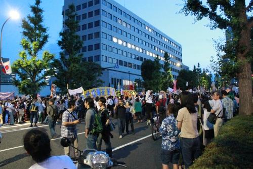 全面解放された道路(2012年6月29日)