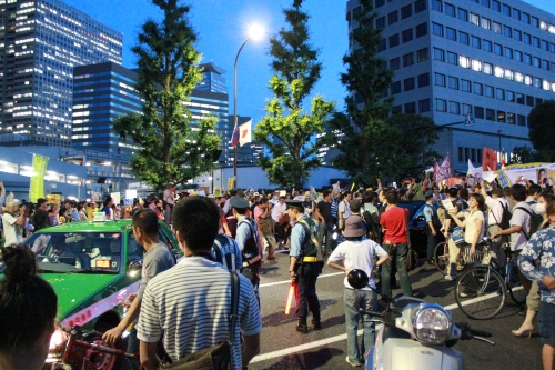 Uターンさせられるタクシー(2012年6月29日)