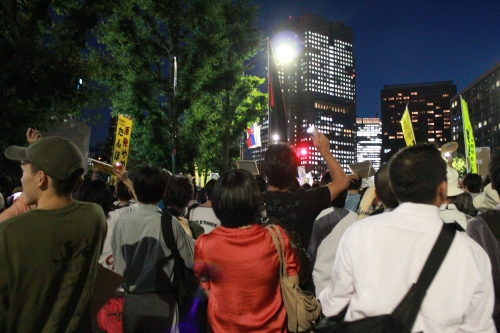 解放区となった首相官邸前(2012年6月29日)