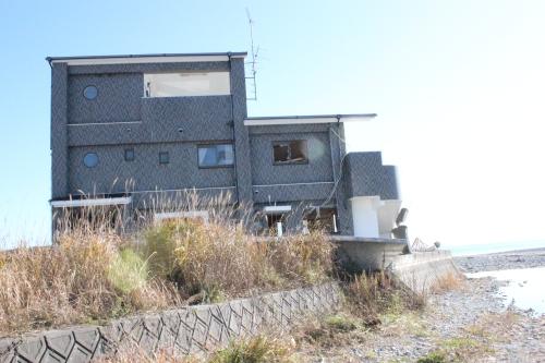 楢葉町の津波被災(2013年11月23日)