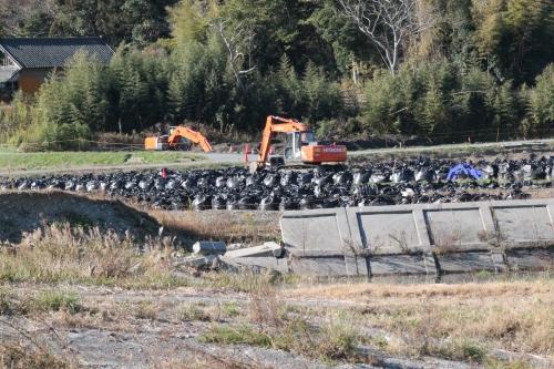 楢葉町における除染作業(2013年11月23日)