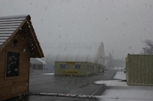 合同焼香場内の「セウォル号を記録する市民ネットワーク」側の活動拠点