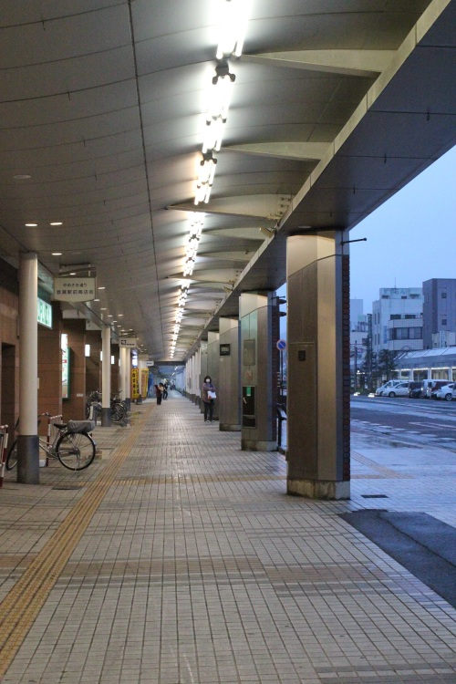 敦賀市中心部商店街(2015年4月6日撮影)