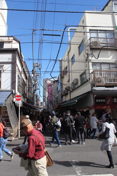 築地場外市場の街路